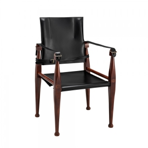 Bridle Campaign Chair, Black - MF122B