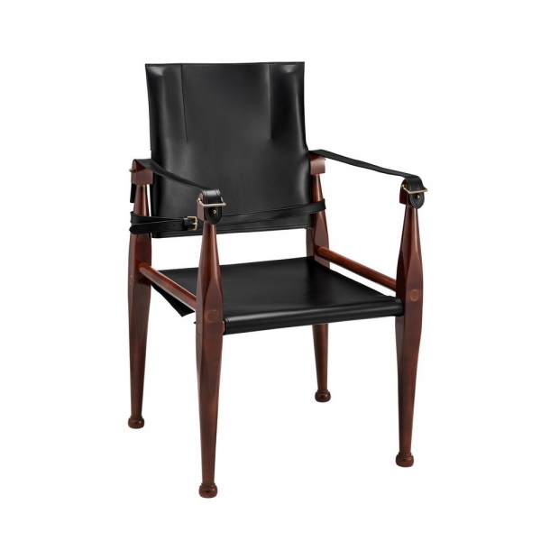 Bridle Campaign Chair, Black - MF122B