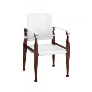 Bridle Campaign Chair, White - MF122W