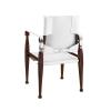 Bridle Campaign Chair, White - MF122W